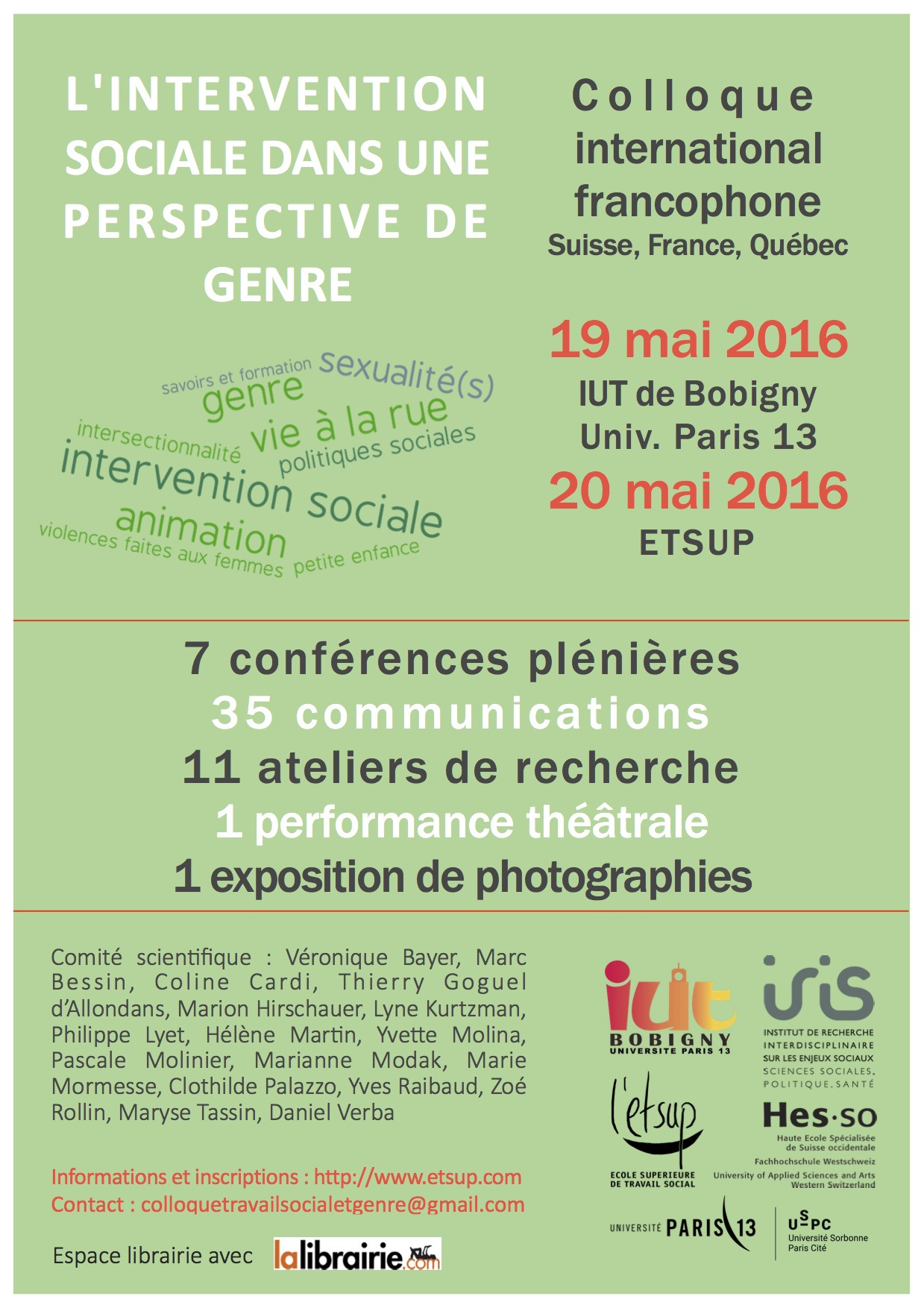 Colloque > L'intervention sociale au prisme du genre – 19-20 mai 2016
