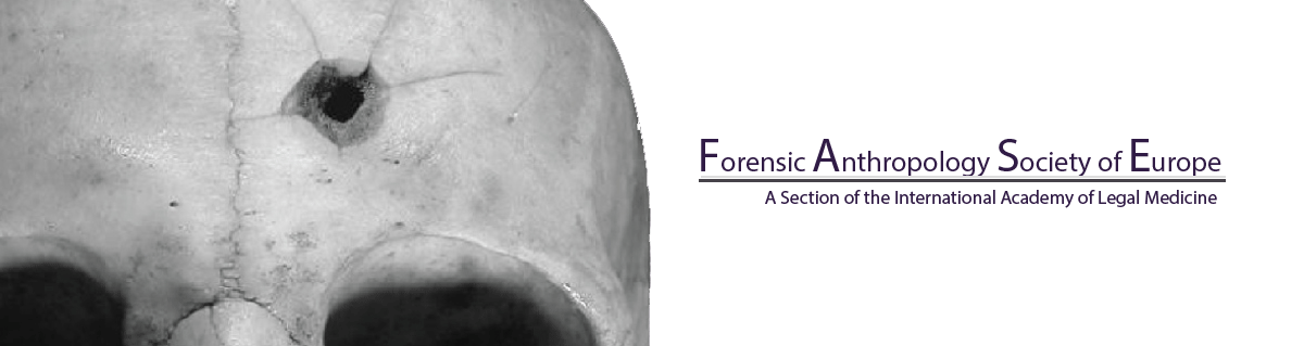 Symposium > Forensic Anthropology Society of Europe - 22 septembre 2018