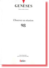 Genèses n° 98 : Observer en réunion